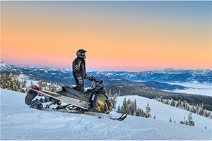Yellowstone Adventures - Park Tours or on your own : Enjoy Ski-Doo® sleds certified for Yellowstone use, or power sleds for nearby forest and backcountry trails & bowls. Great rates on complete lodging/rental packages too.