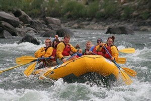 Flying Pig - Whitewater Rafting Adventures :: Two-hour, half- and full-day raft trips on the Yellowstone River in Gardiner MT. Also available, 1/2-day horseback rides, BBQ cookouts, hikes, fly fishing, tours & more.