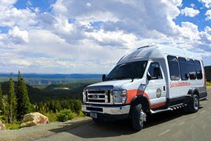 Summer Coach Tours of Yellowstone Park : With state-of-the-art AWD vans, our motorcoaches get you to the heart of Yellowstone's attractions, lodging & wildlife in warmth, easy access, and style. SeeYellowstone Tours.
