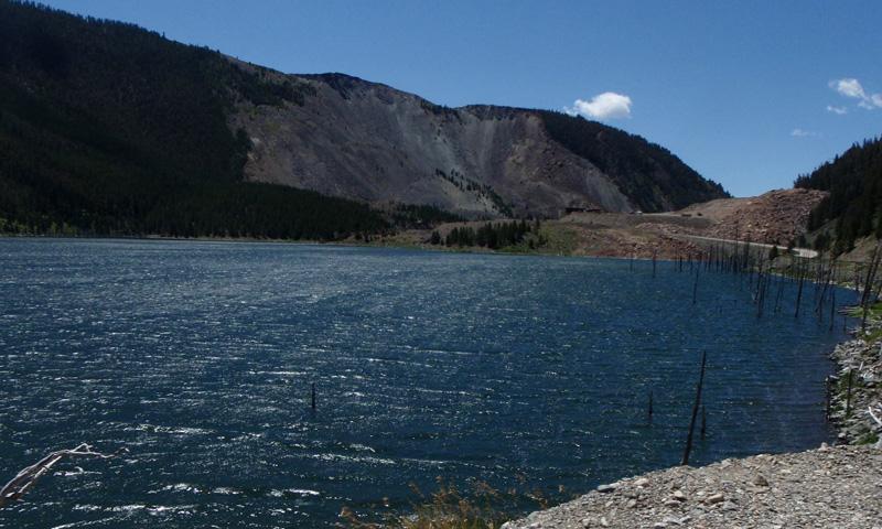 Quake Lake near Ennis Montana