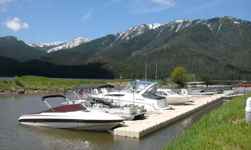 Marina at Kirkwood Resort on Hebgen Lake