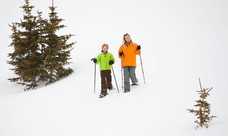 Kids Winter Snowshoeing