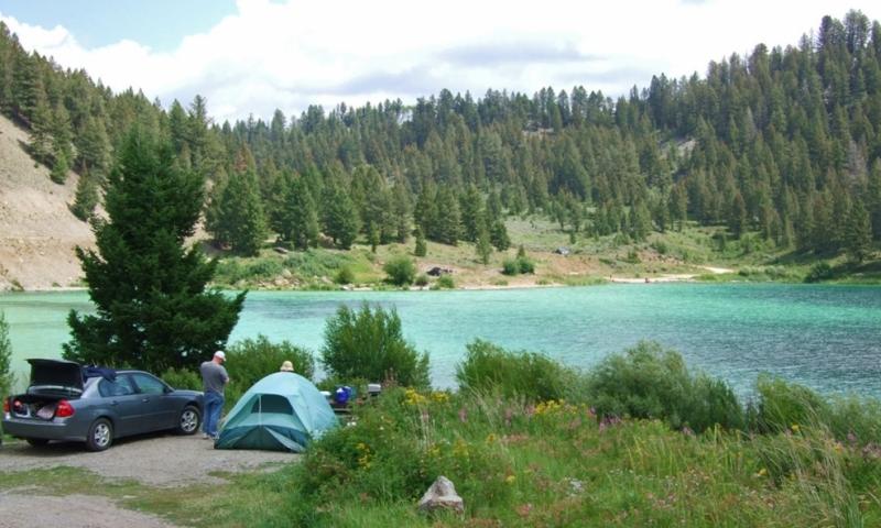 Cliff Wade Lake Montana Camping
