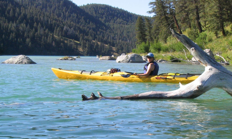Kayaking West Yellowstone Montana Cliff Lake Beaverhead Deerlodge National Forest