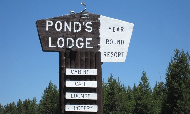 Historic Ponds Lodge Sign