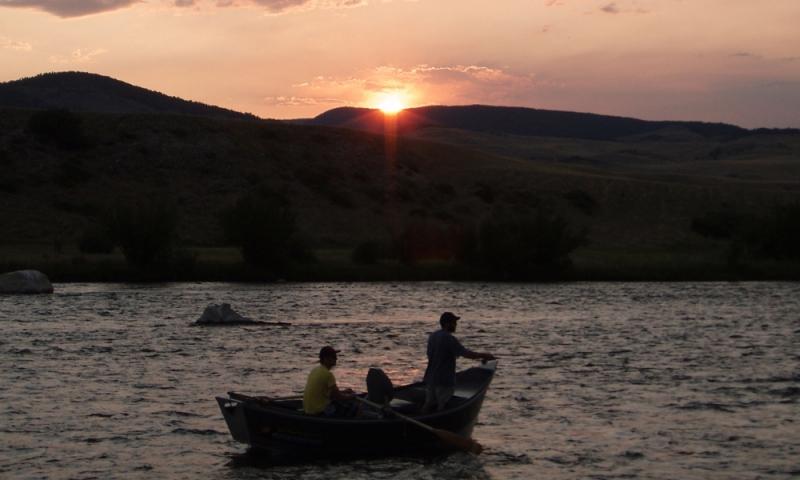 Madison River Montana Fishing Sunset