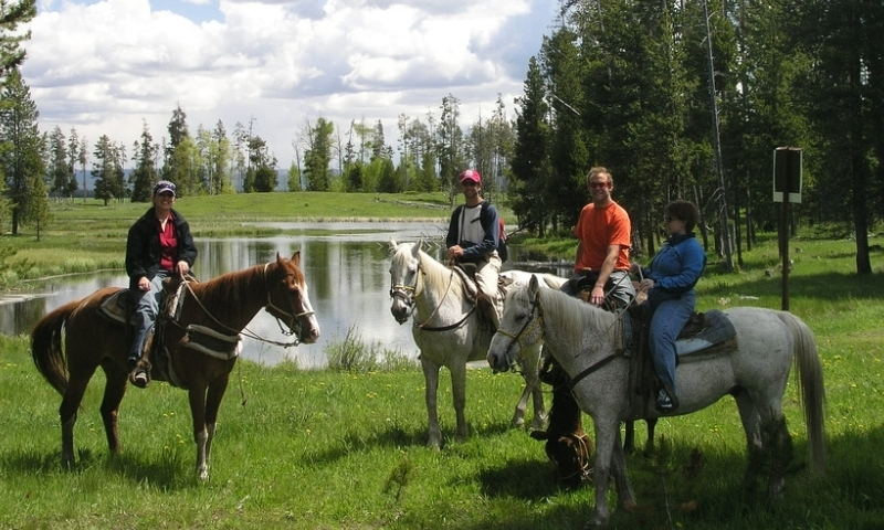 Horseback Riding Harriman Ranch Idaho