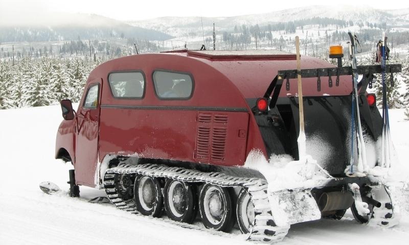 West Yellowstone Montana Snowcoach Tour