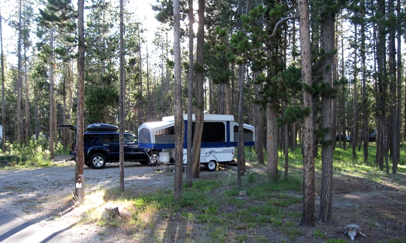 Camping at Bakers Hole Campground