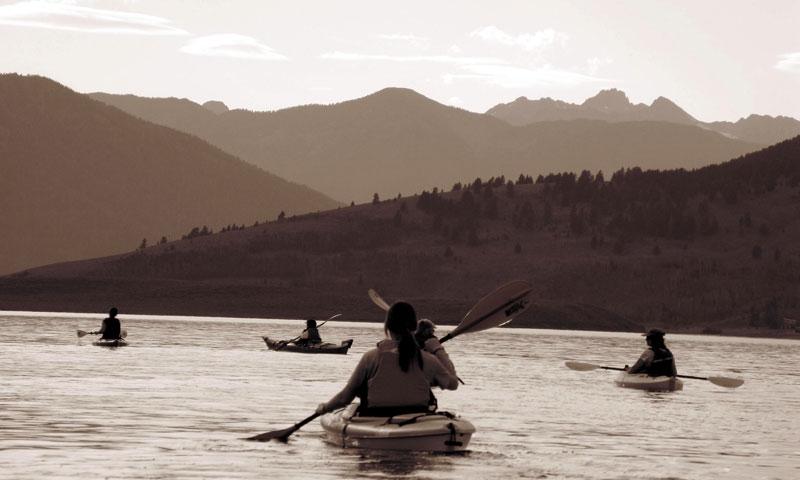 Kayaking West Yellowstone Montana Hegben Lake