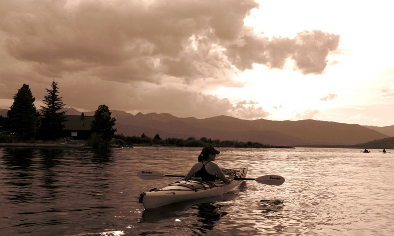 Kayaking West Yellowstone Montana Hebgen Lake
